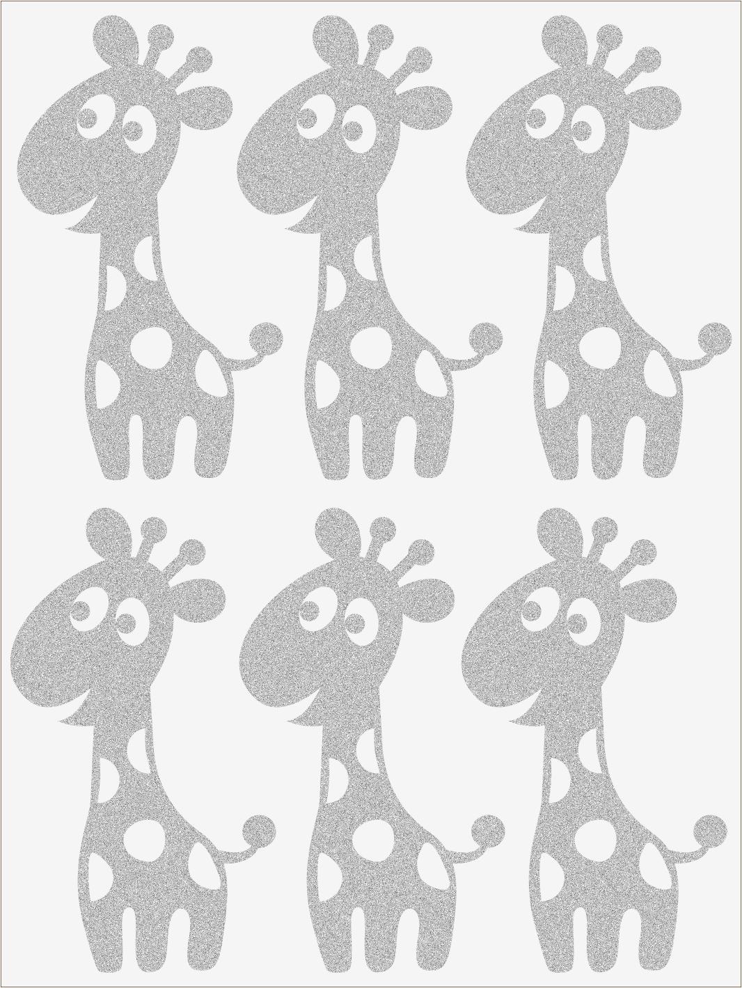 Reflexné nažehľovačky Žirafy