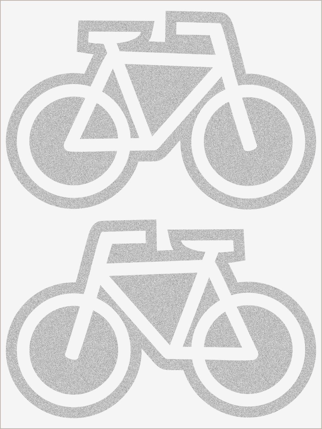 Reflexné nažehľovačky Bicykle