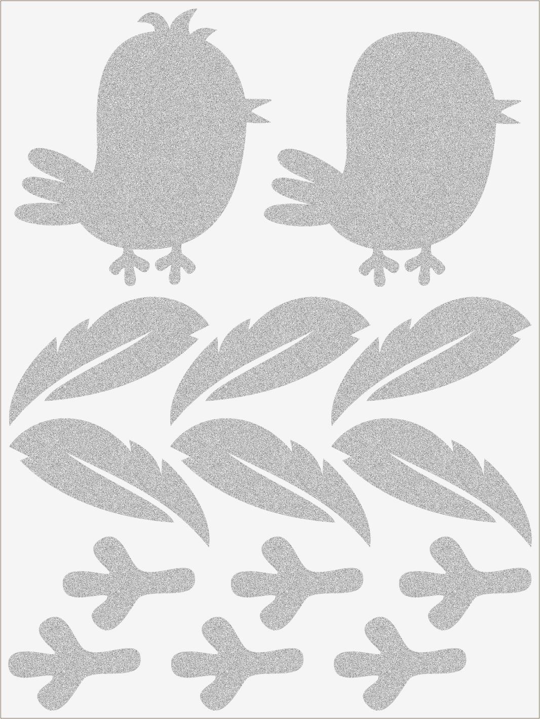 Reflexné nažehľovačky vtáčiky