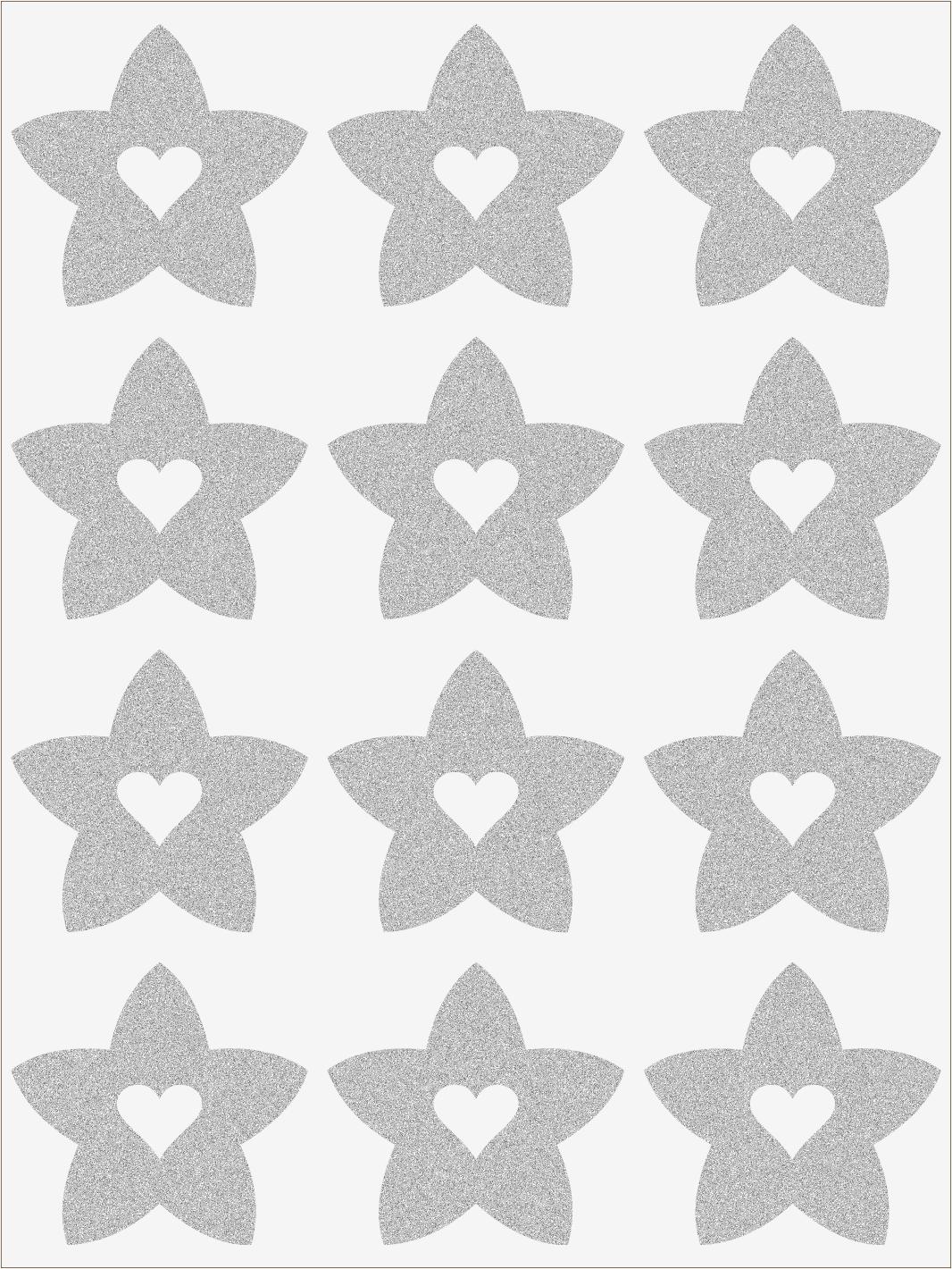 Reflexné nažehľovačky Hviezdičky so srdiečkami
