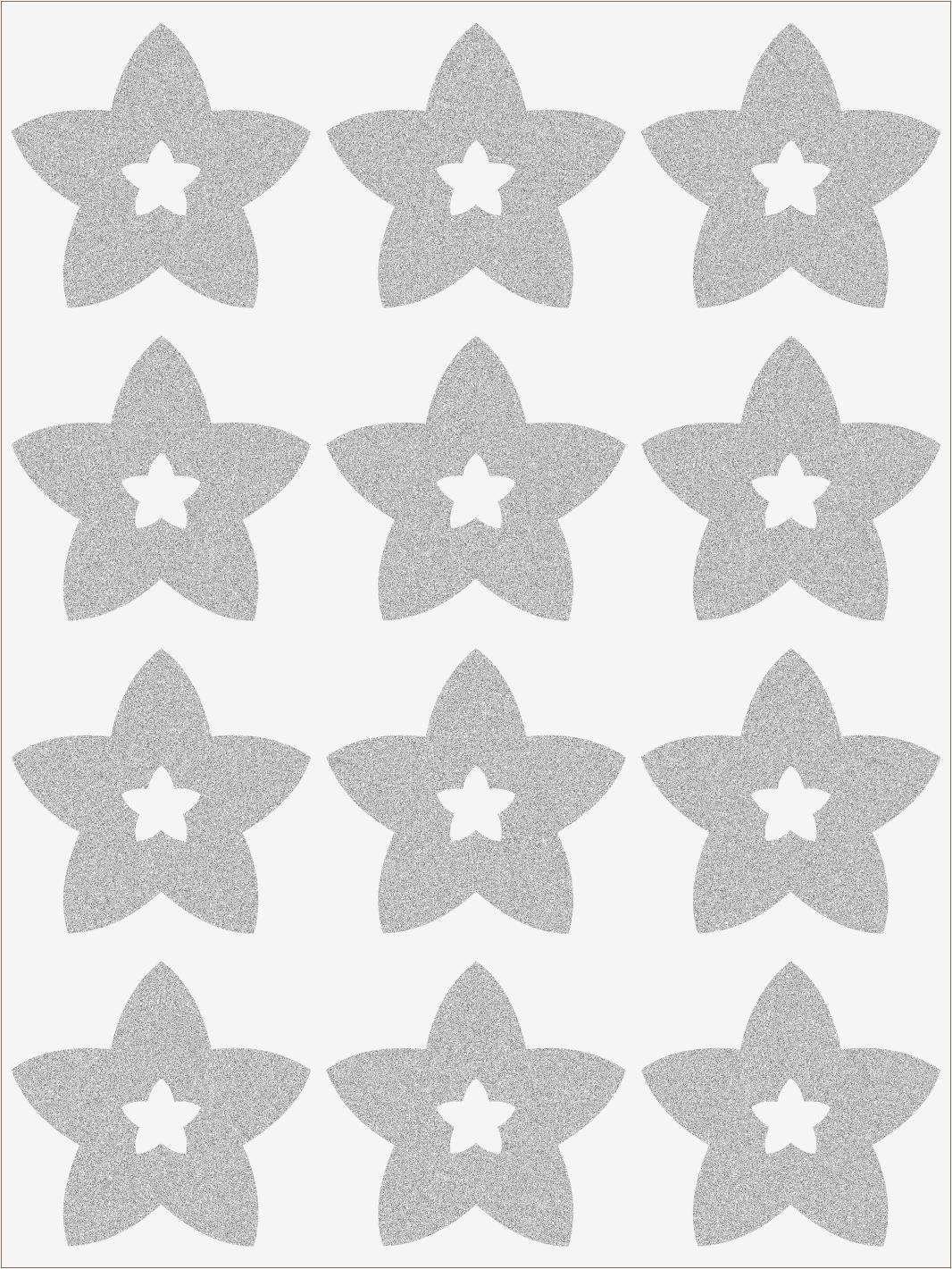 Reflexné nažehľovačky Hviezdičky s hviezdičkami 1