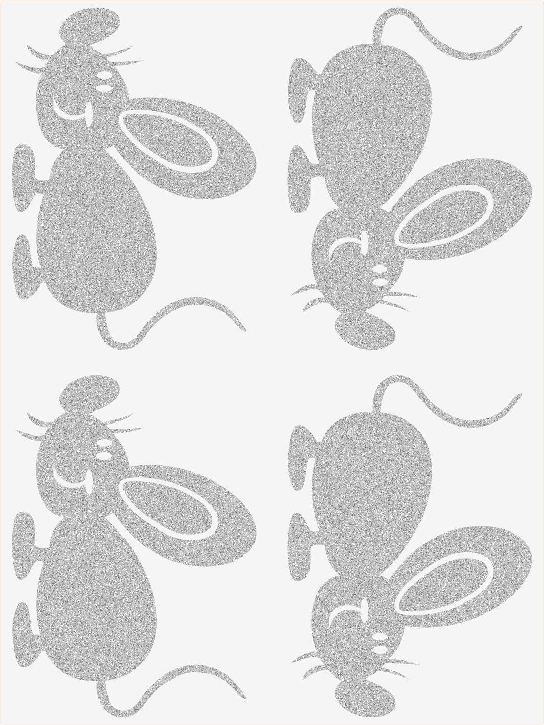 Reflexné nažehľovačky Myš 1