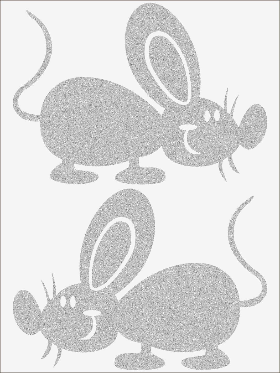 Reflexné nažehľovačky Myš 2