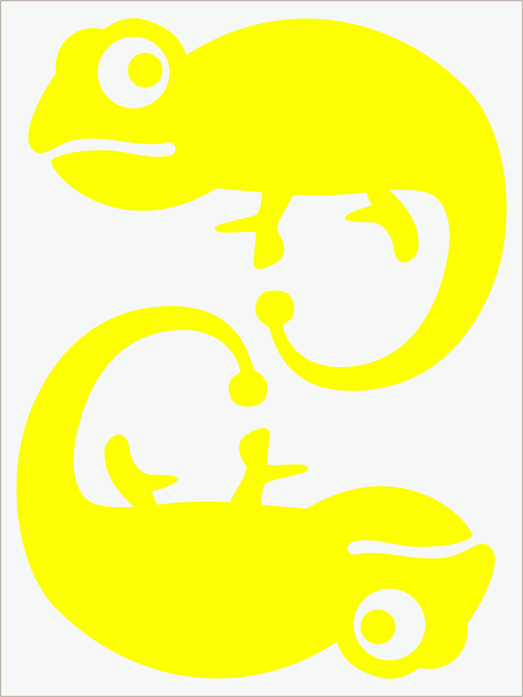 Chameleón neon