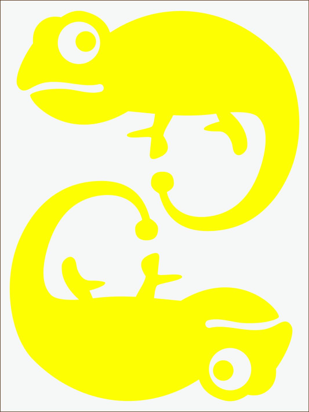 Chameleon neon žltý