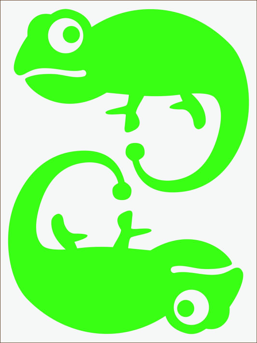 Chameleón neon zelený