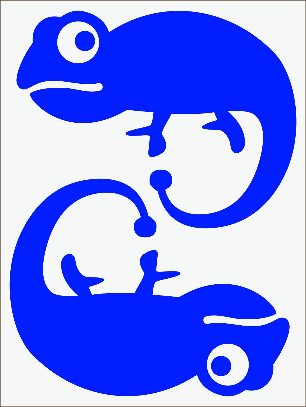 Chameleón neon  modrý