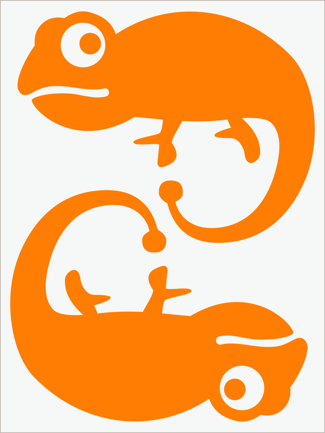 Chameleón neon  oranžový