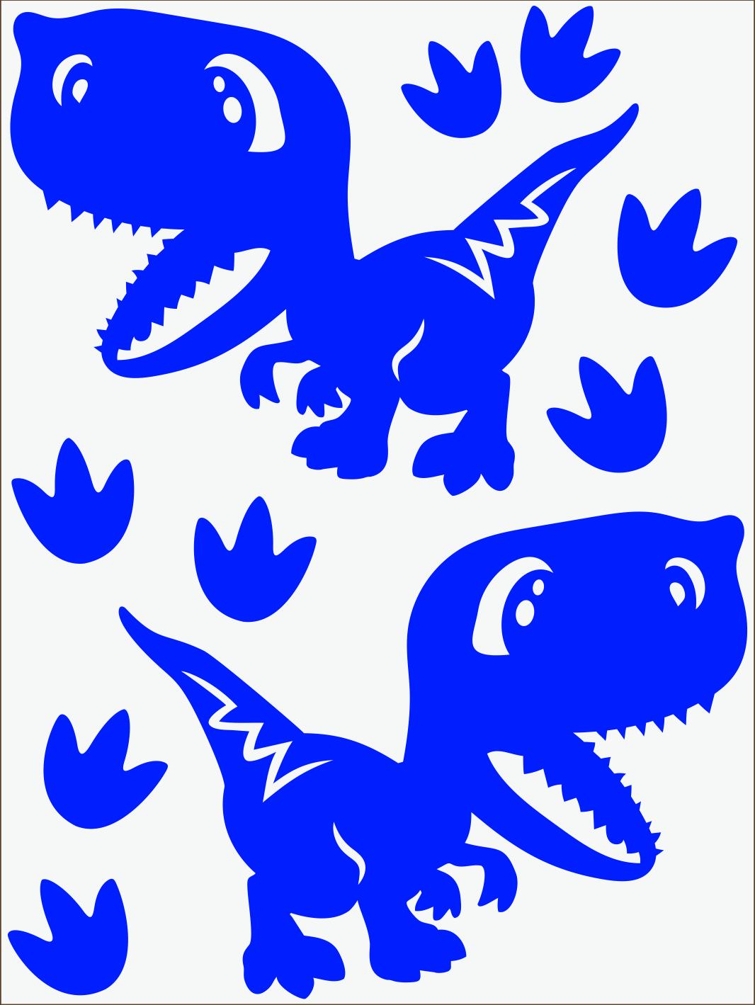 Dino IV neon modrý