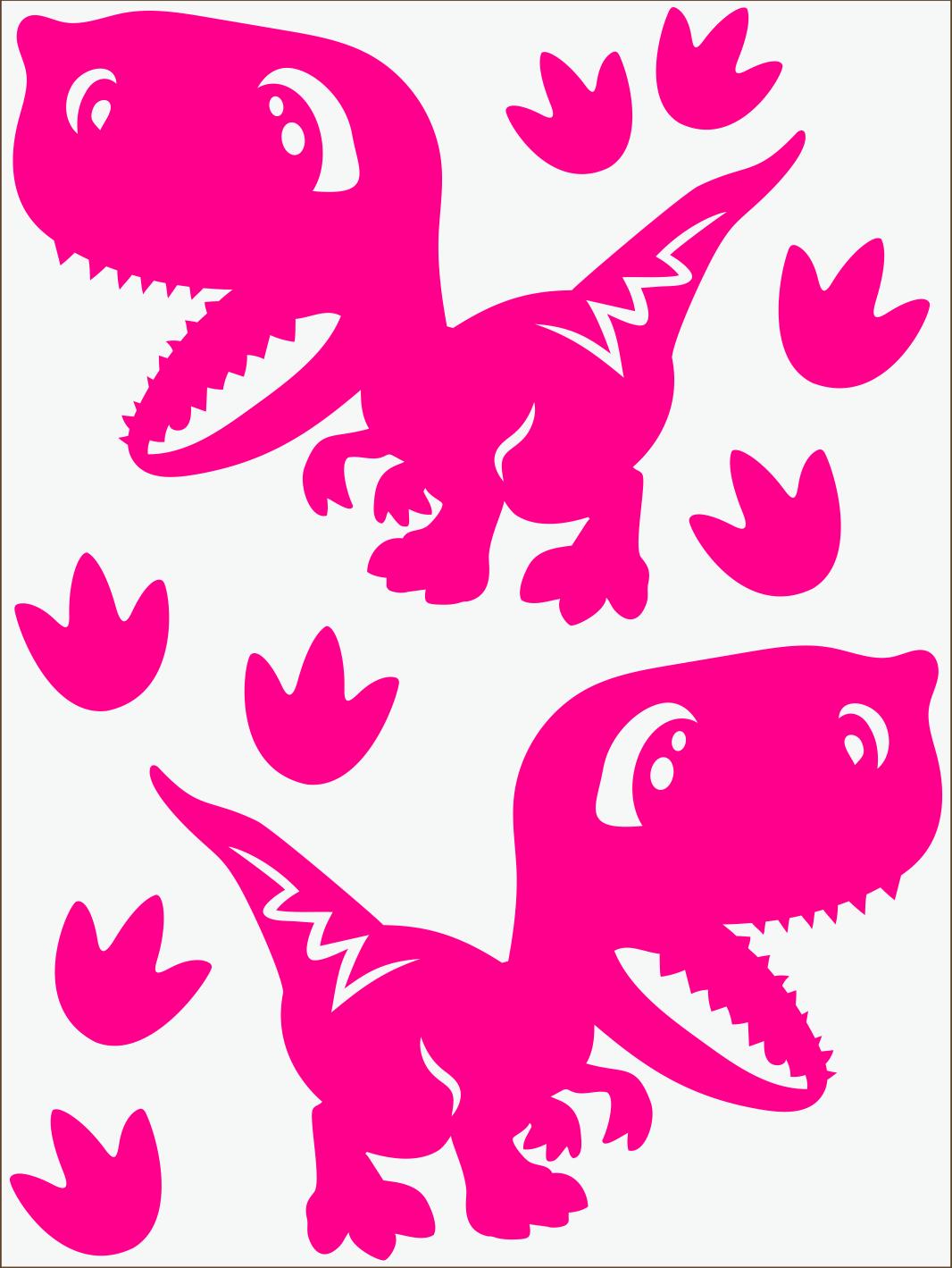 Dino IV neon ružový