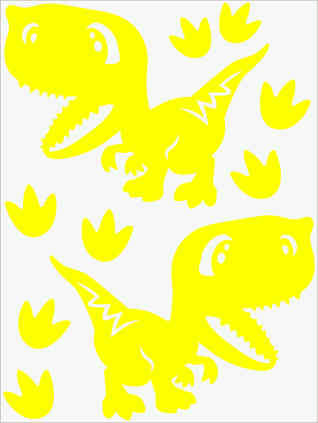 Dino IV neon žltý