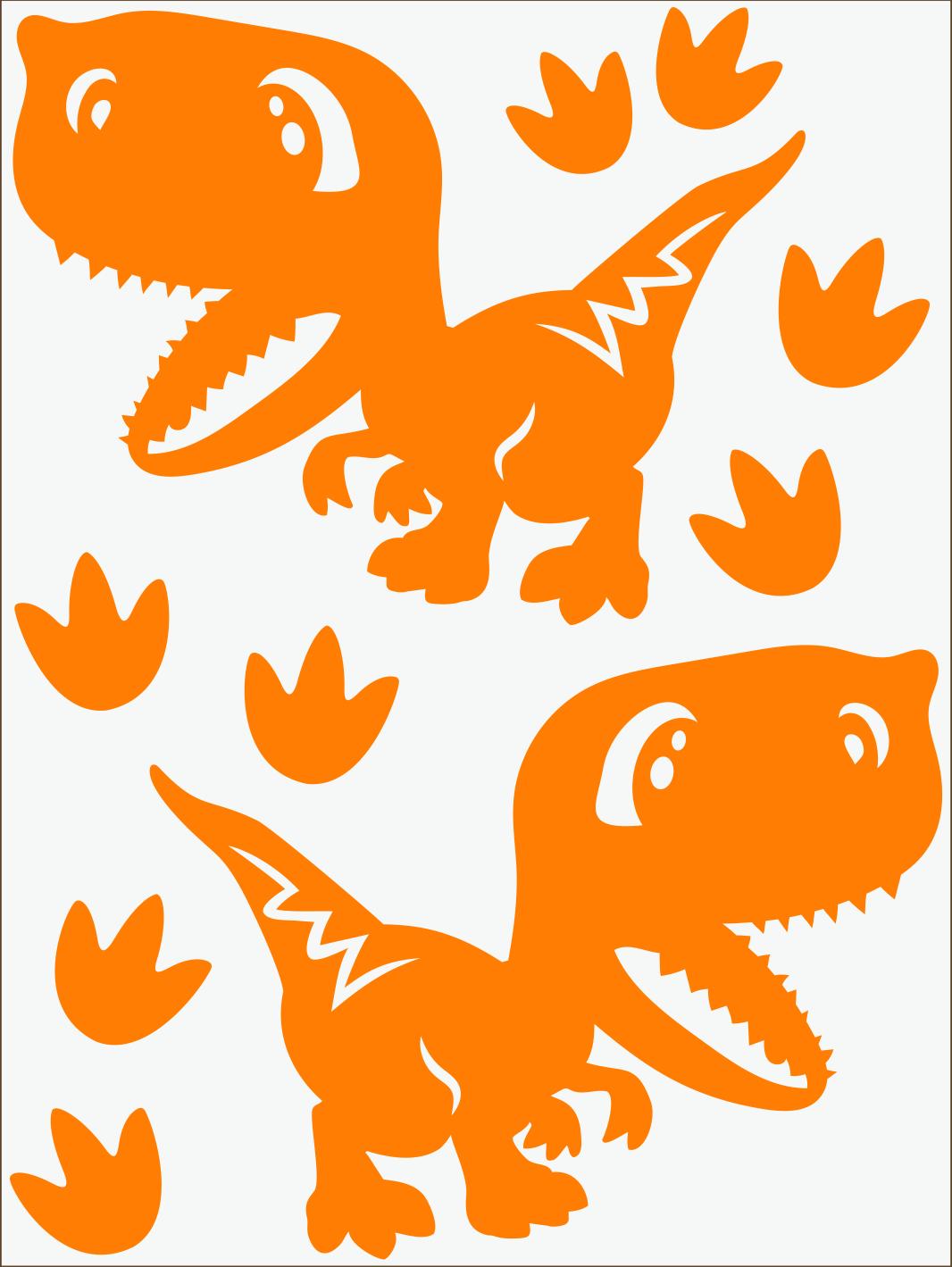 Dino IV neon oranžový