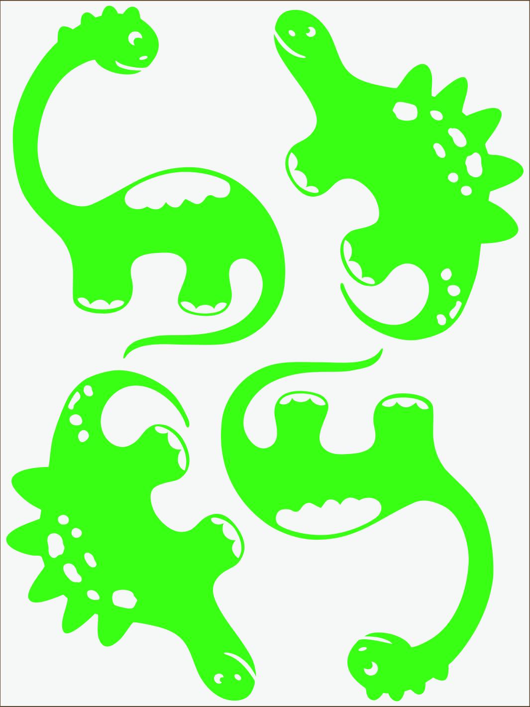 Dino III neon zelený