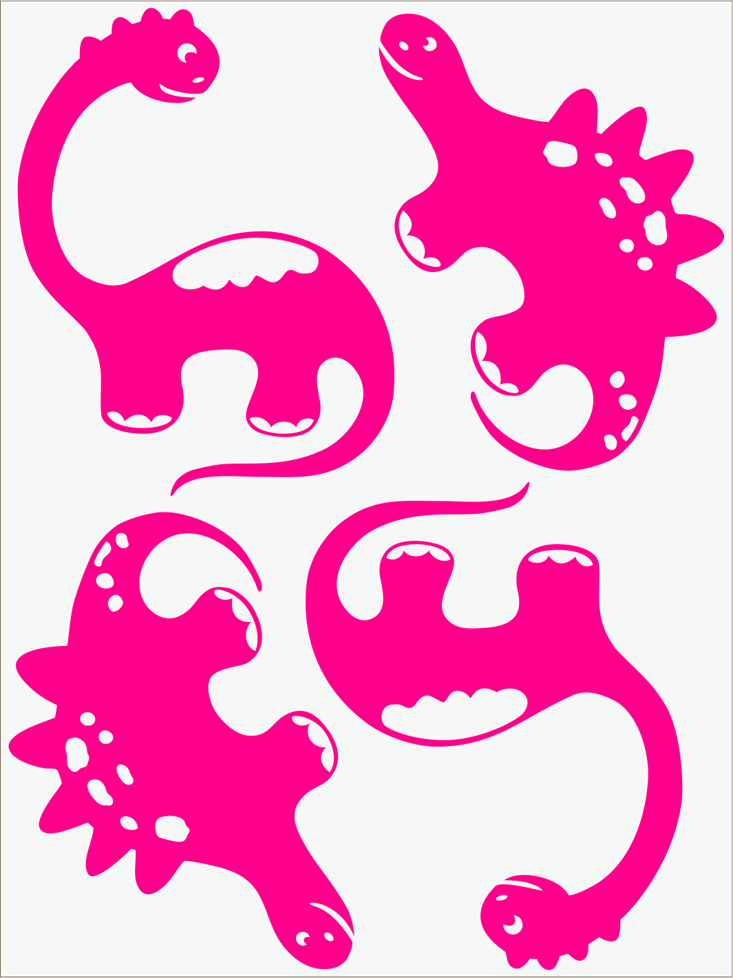 Dino III neon ružový
