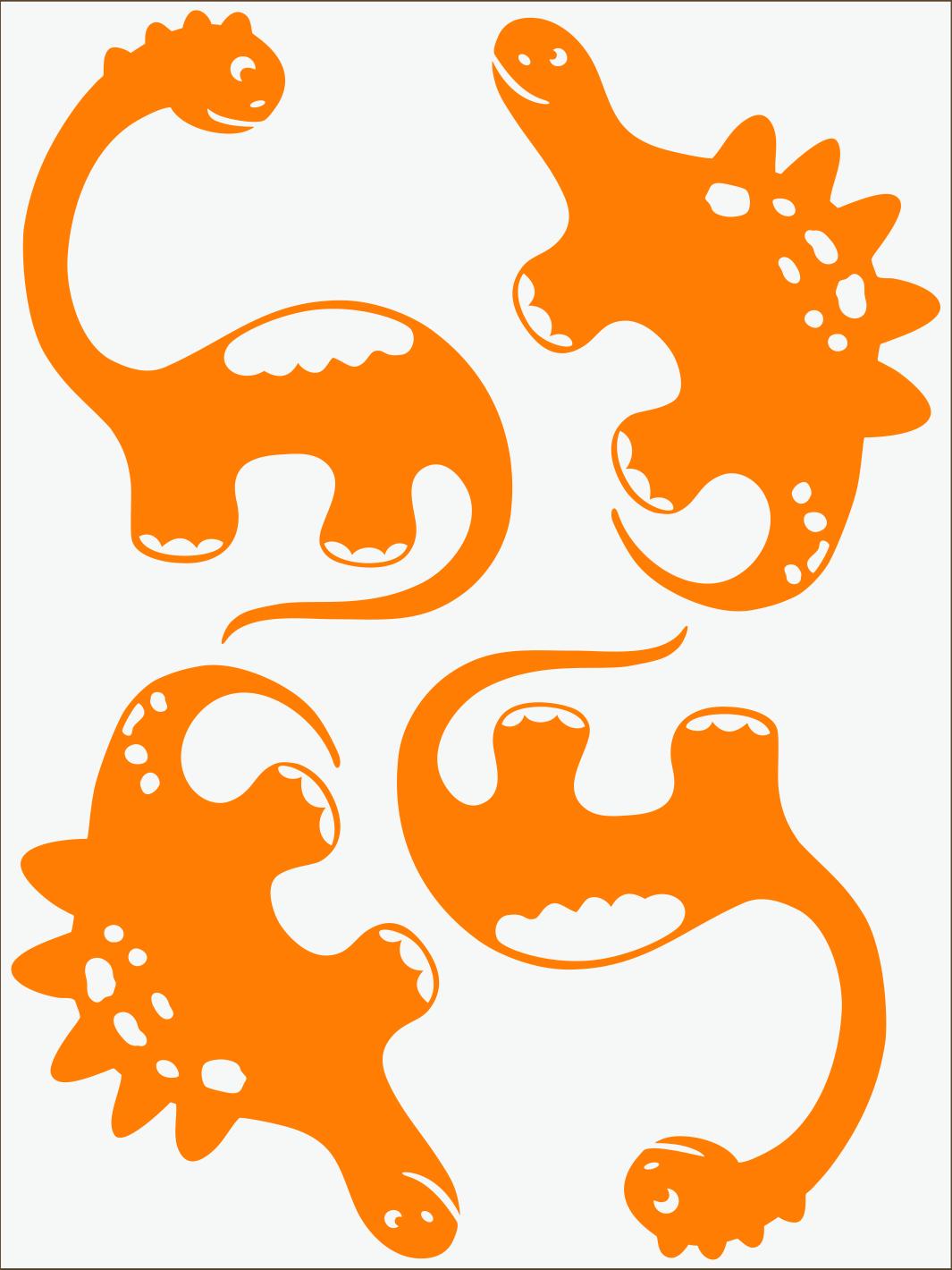 Dino III neon oranžový
