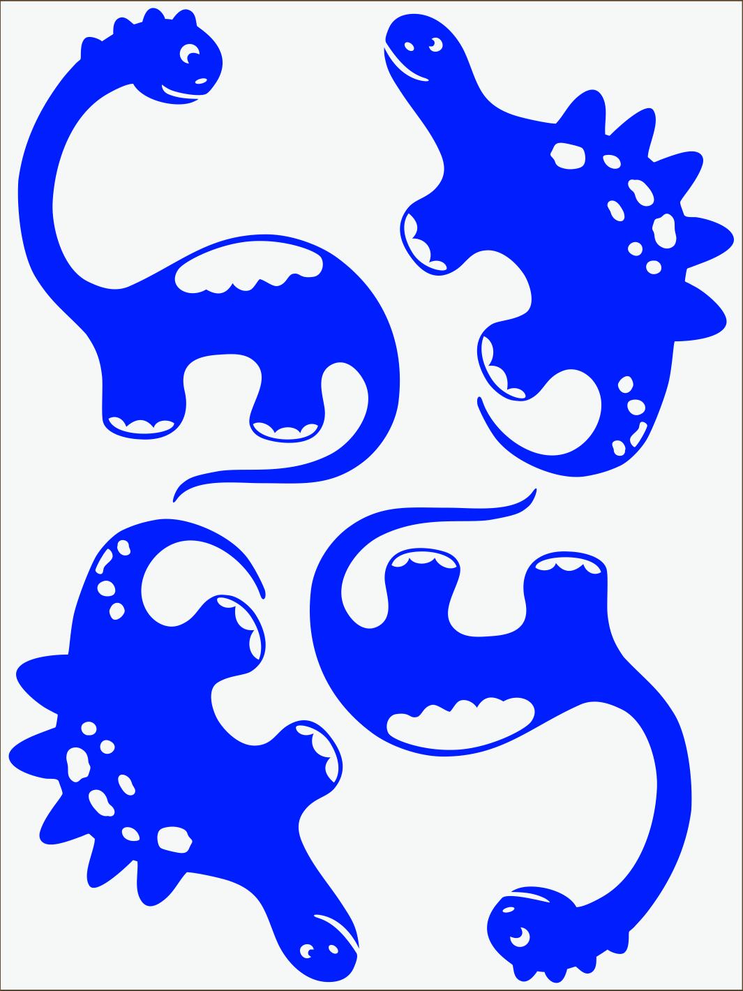 Dino III neon modrý