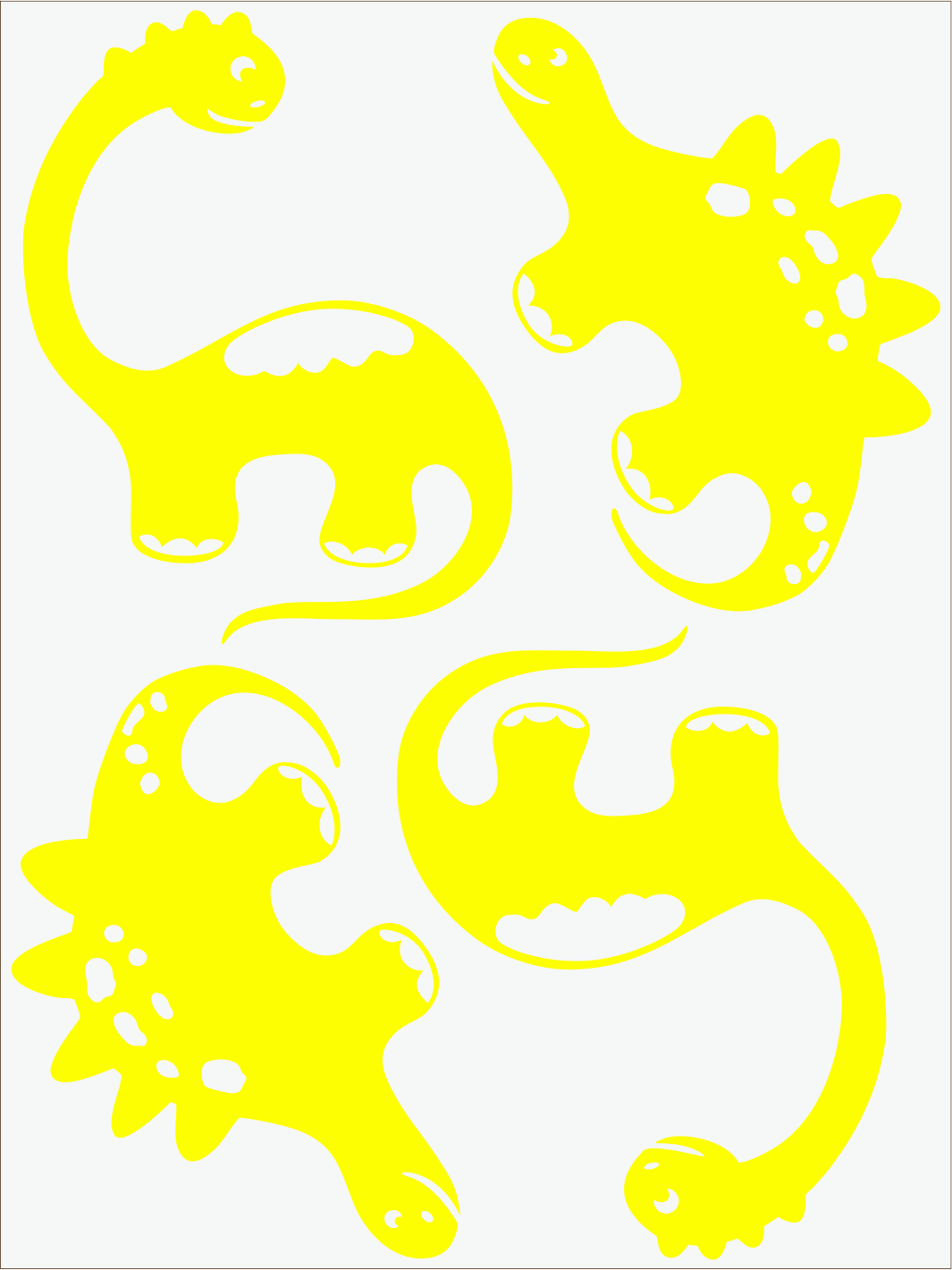 Dino III neon žltý