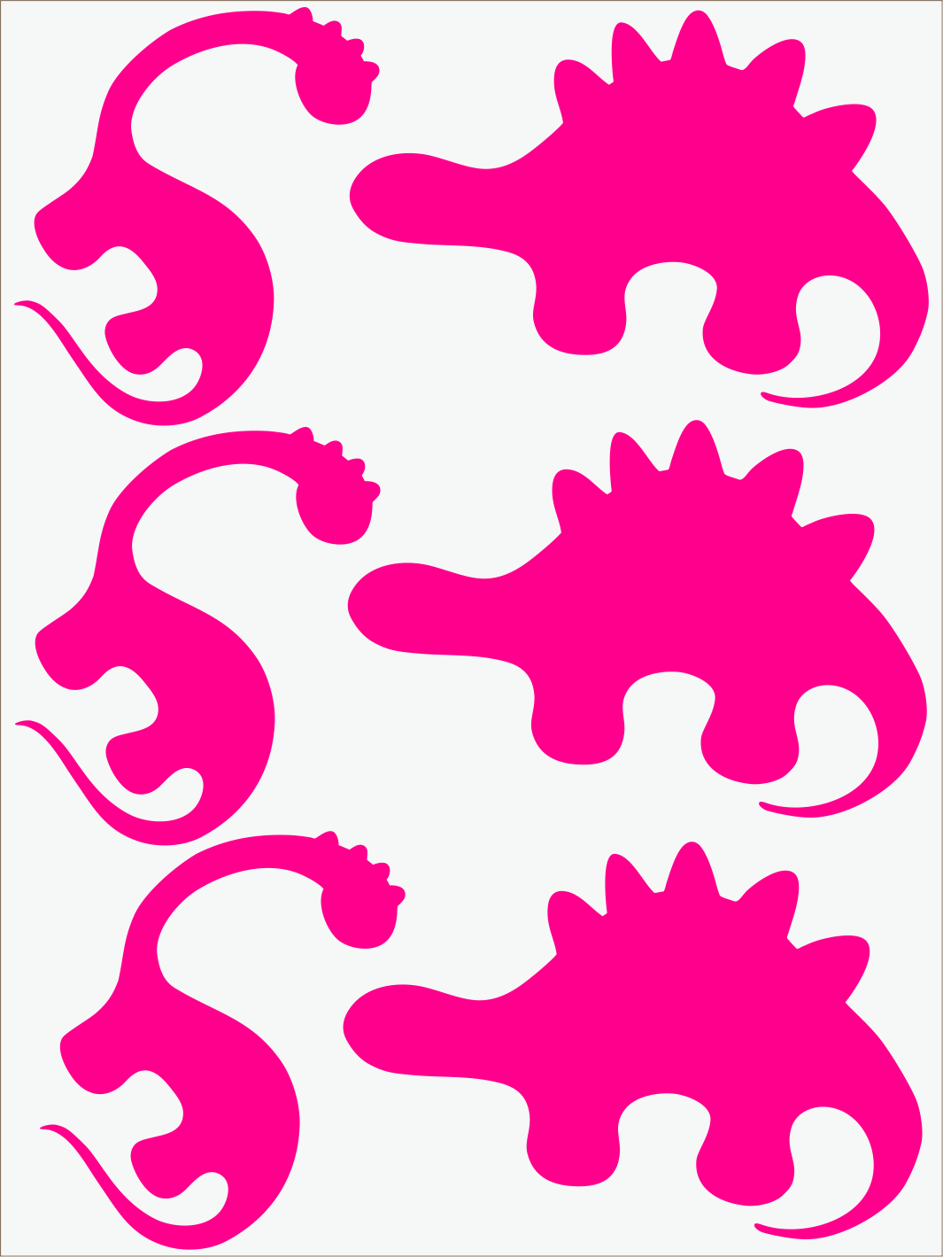 Dino II neon ružový
