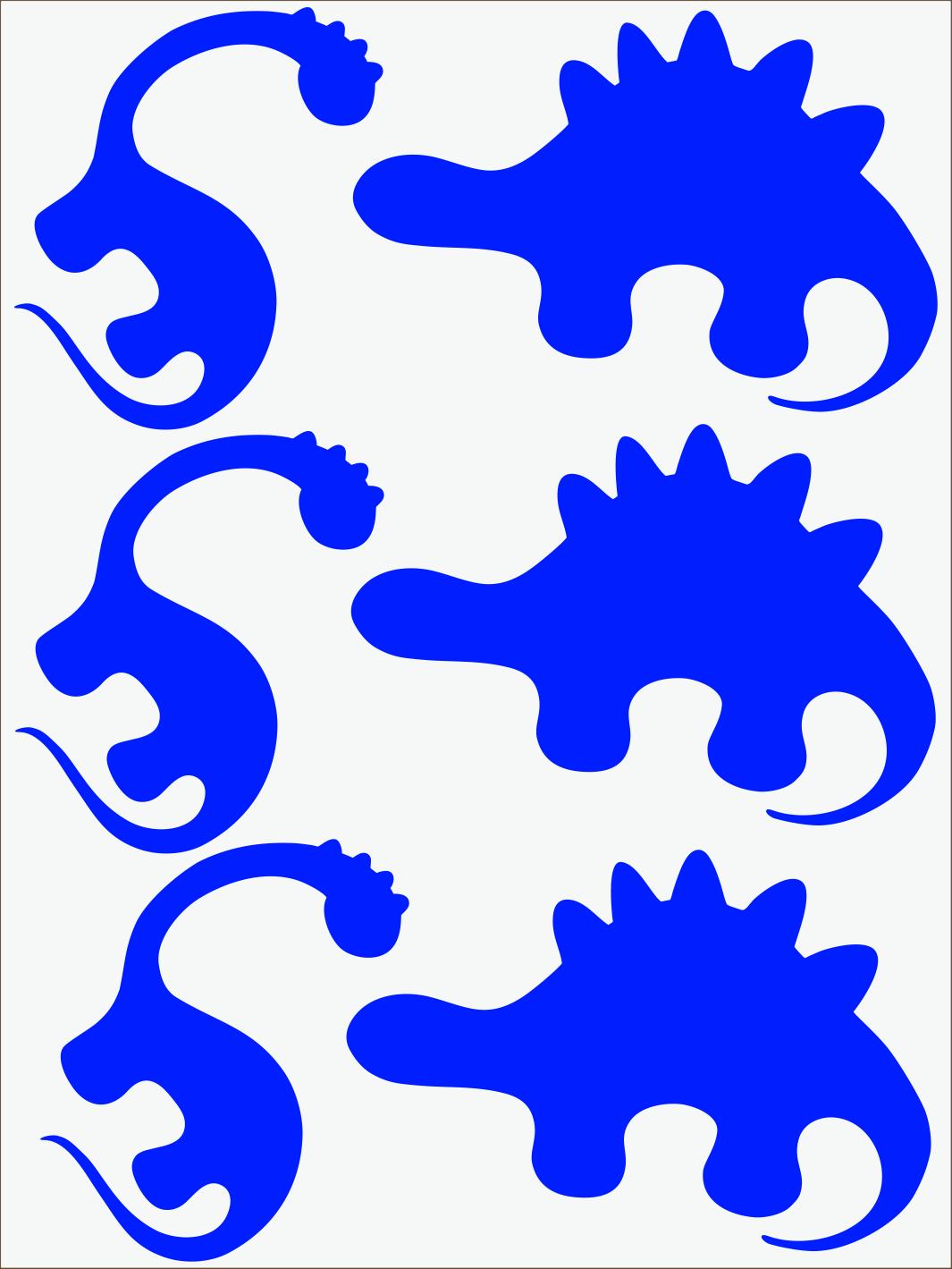 Dino II neon modrý