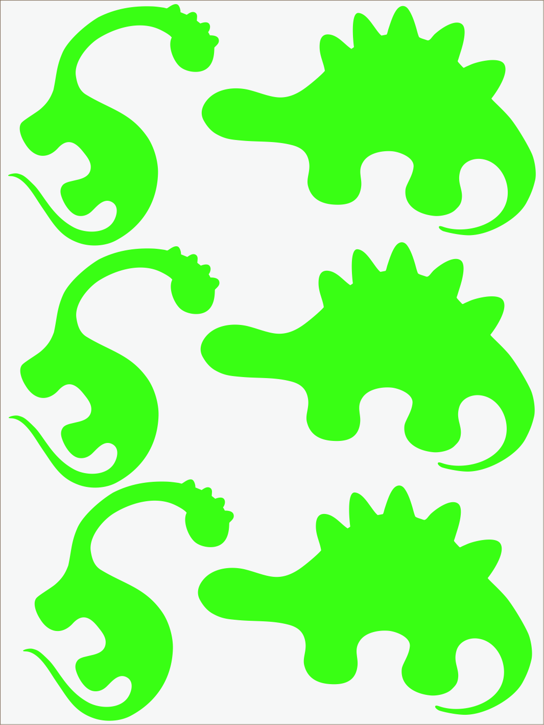 Dino II neon zelený