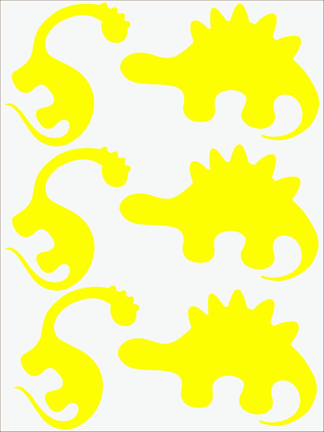 Dino II neon žltý