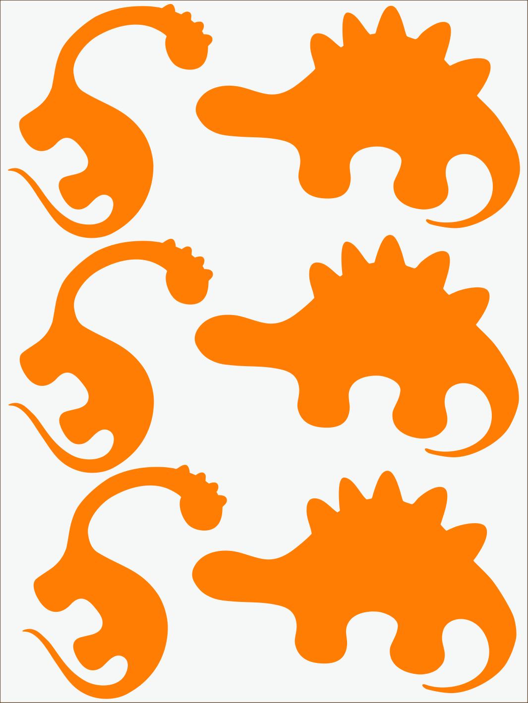 Dino II neon oranžový
