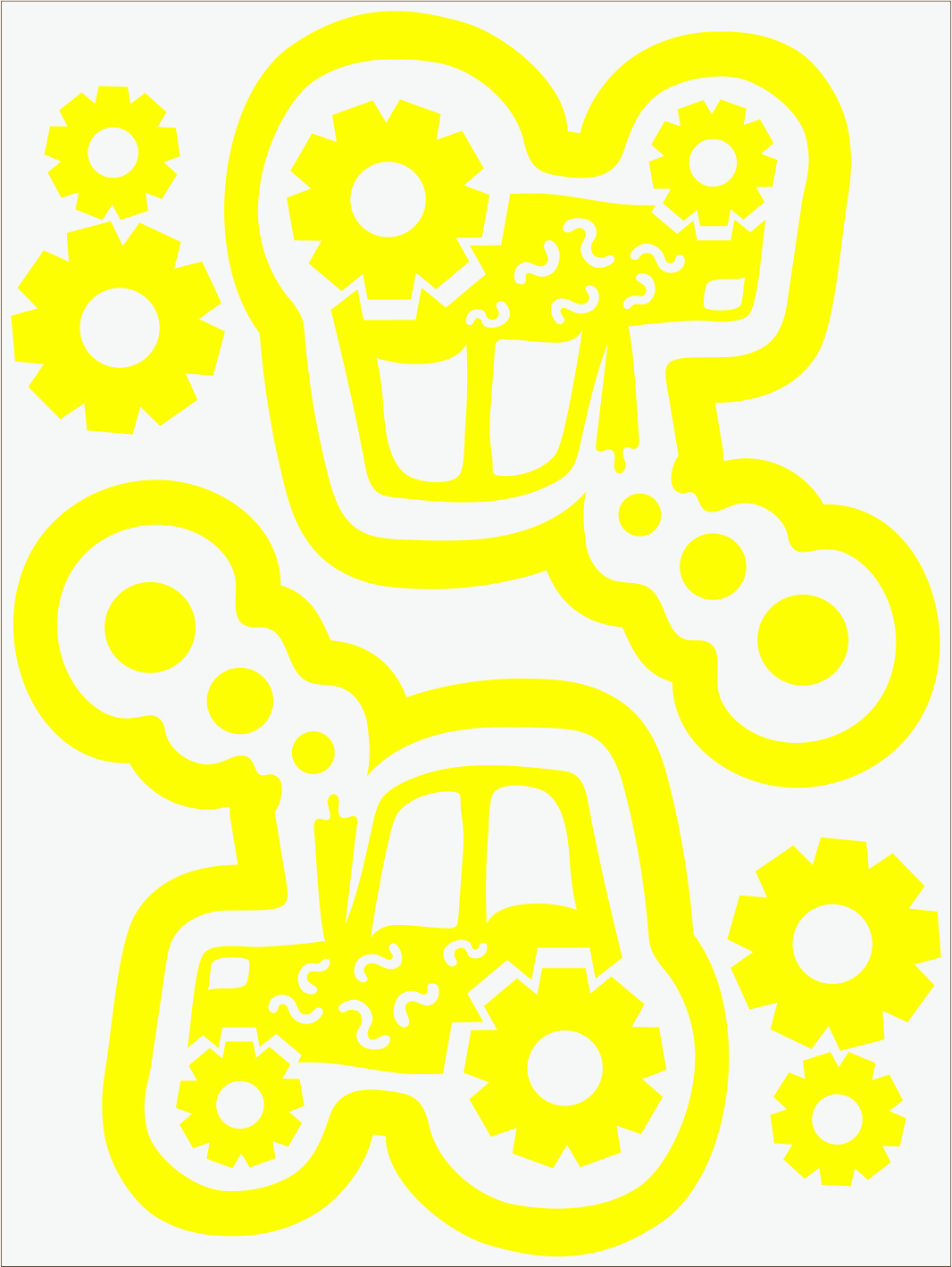 Traktor neon žltý