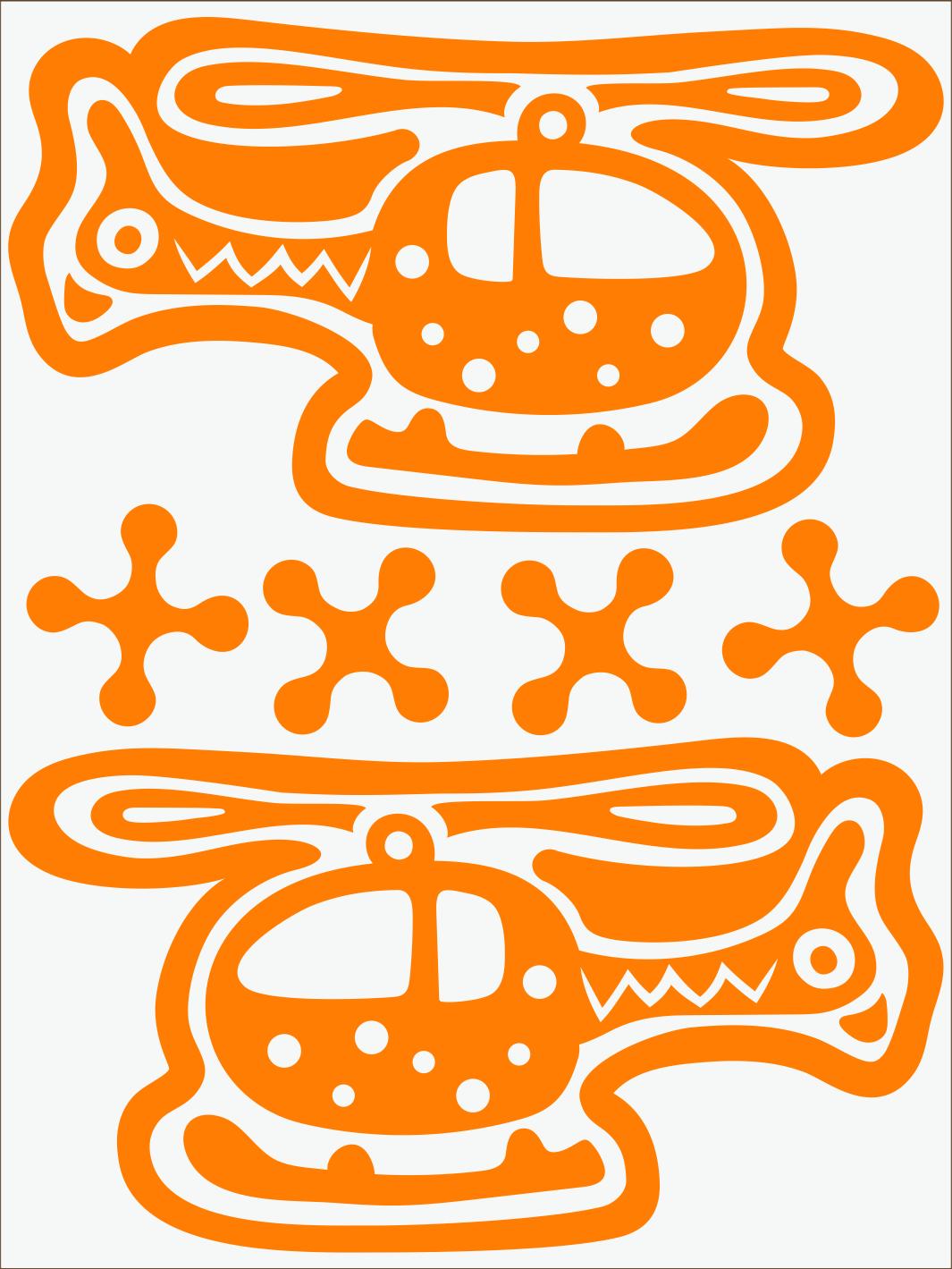 Vrtuľník neon oranžový