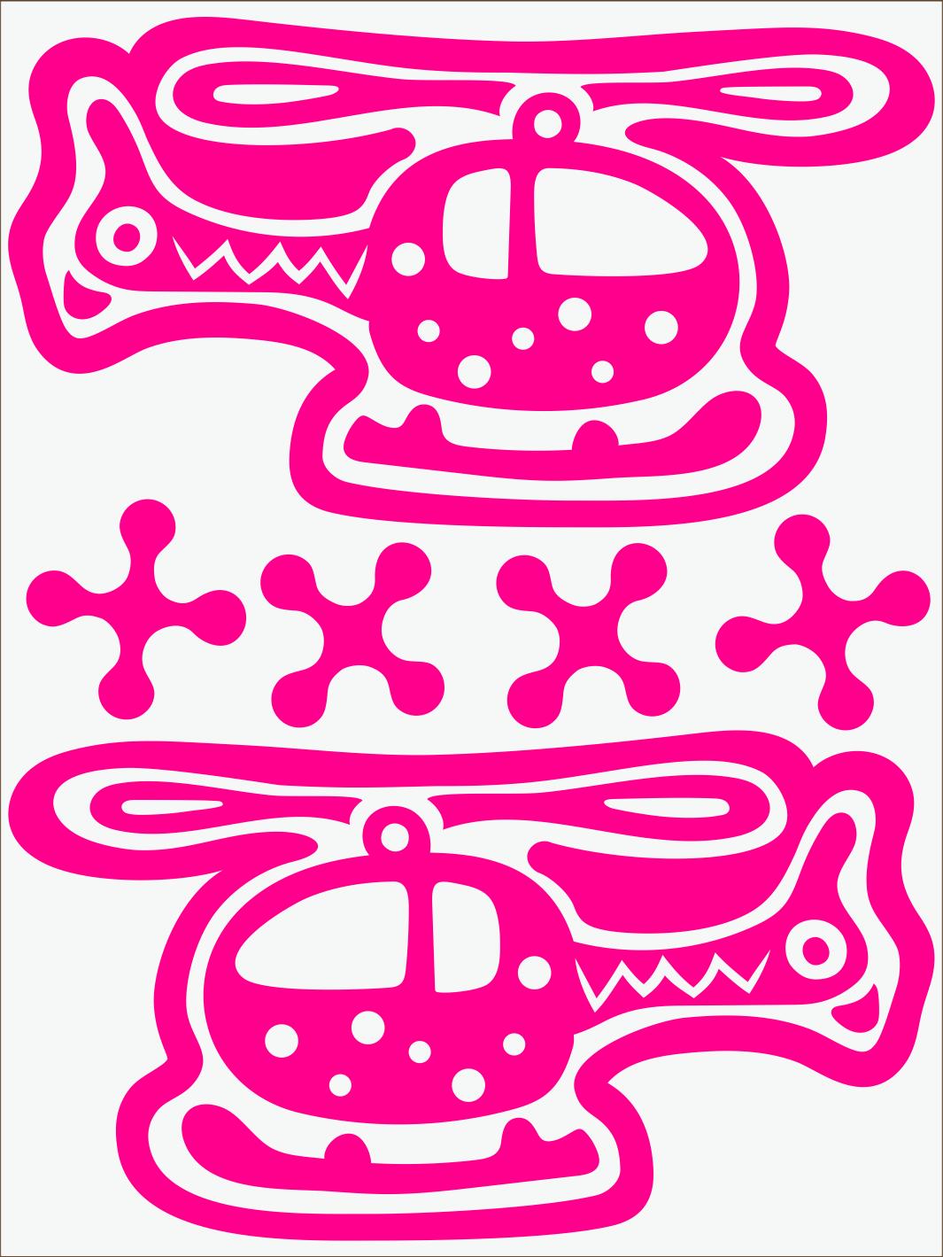 Vrtuľník neon ružový