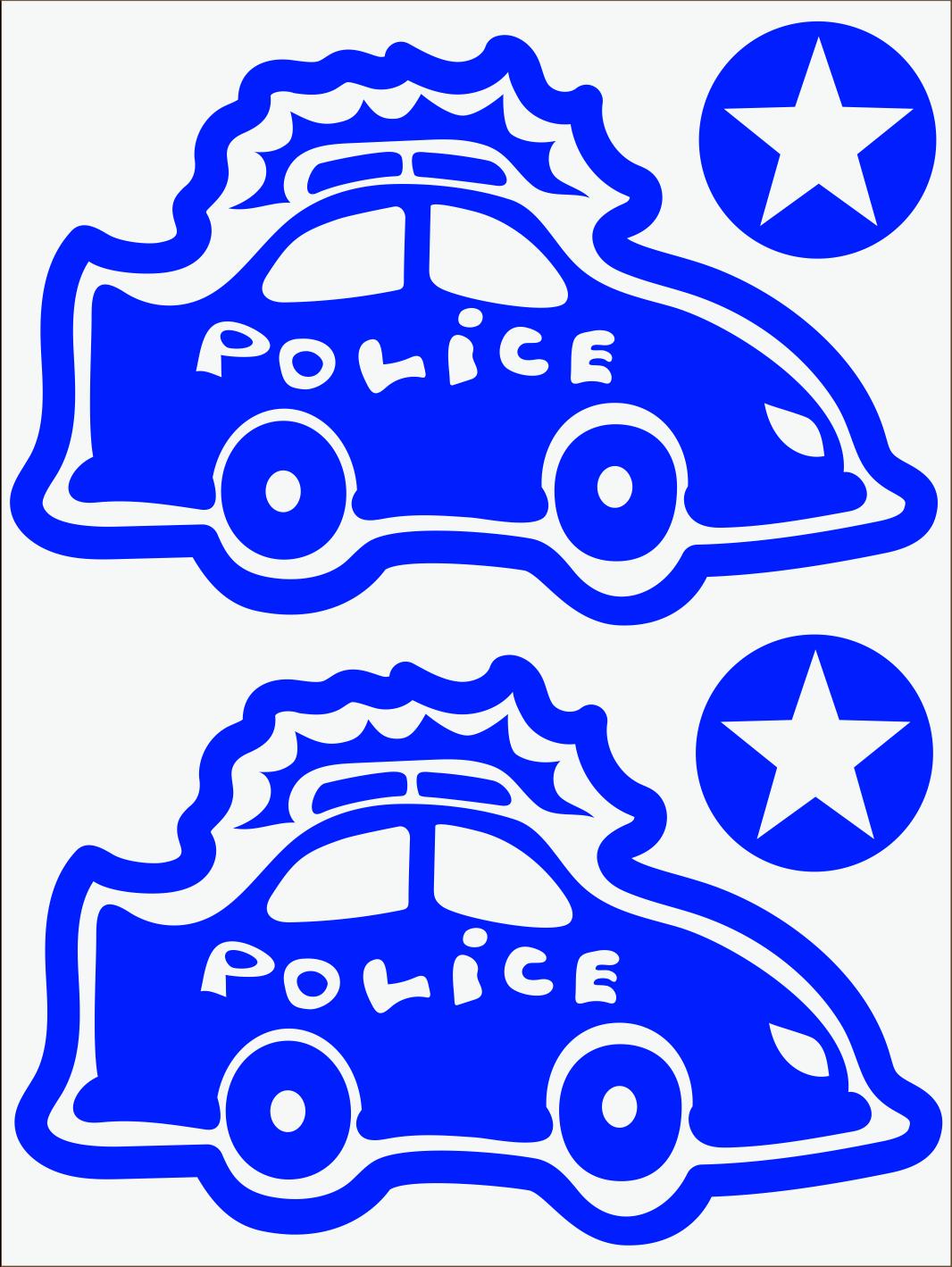 Policajné auto neon modrý
