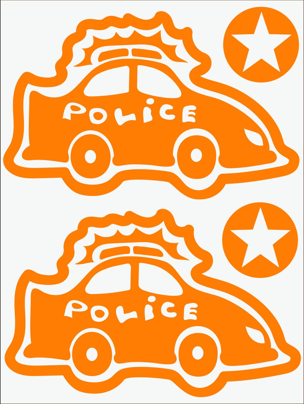 Policajné auto neon oranžový