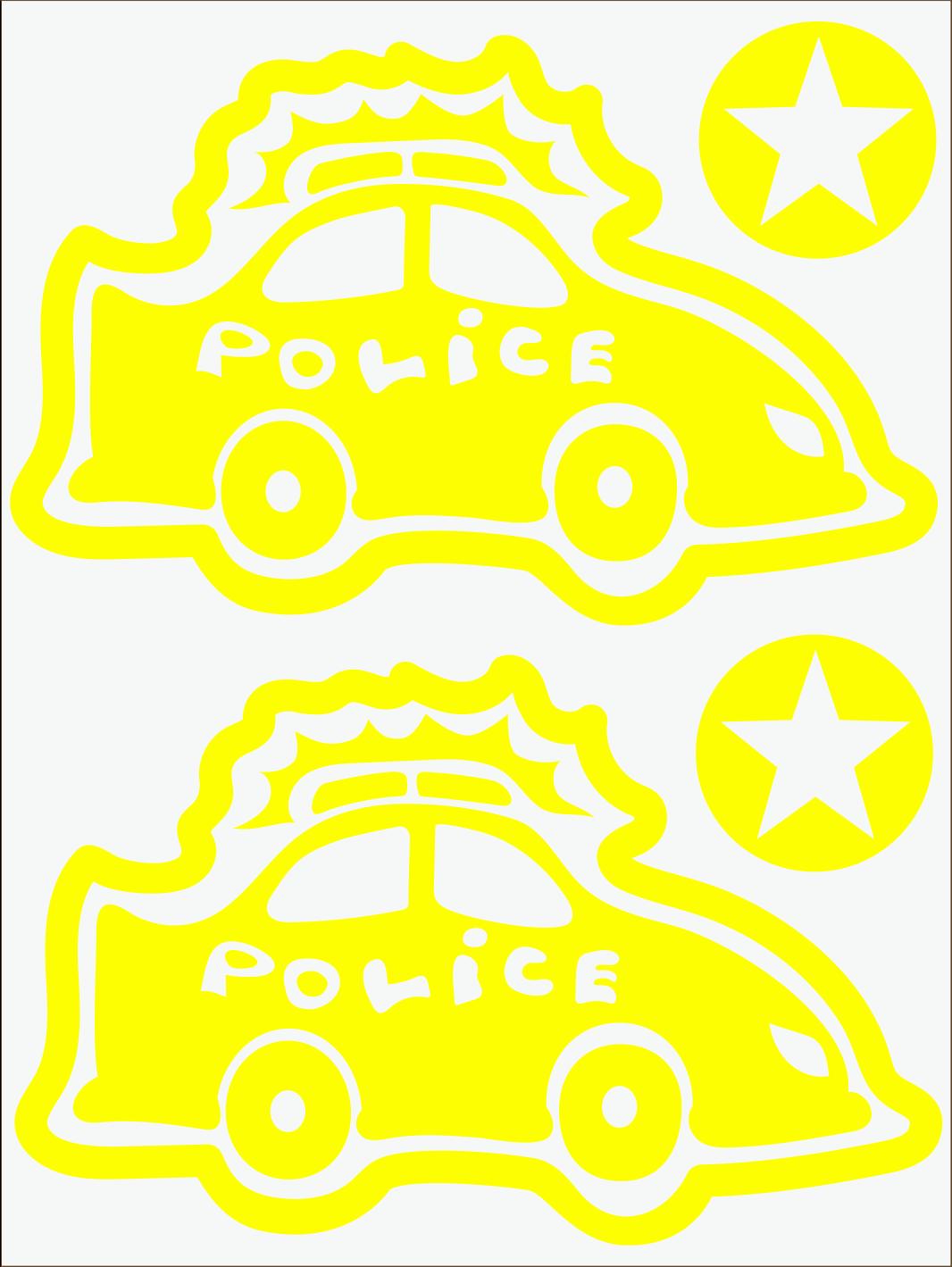 Policajné auto neon žltý