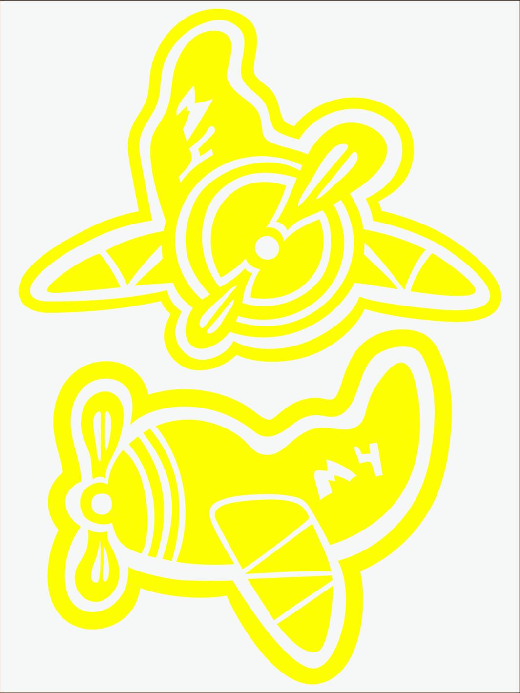 Lietadlo neon žltý