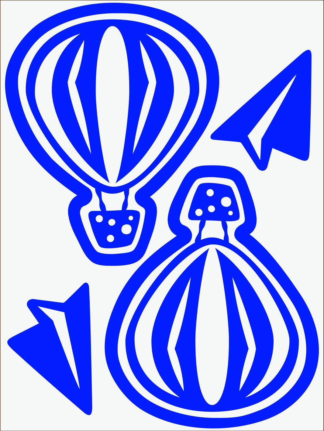 Balónik neon modrý