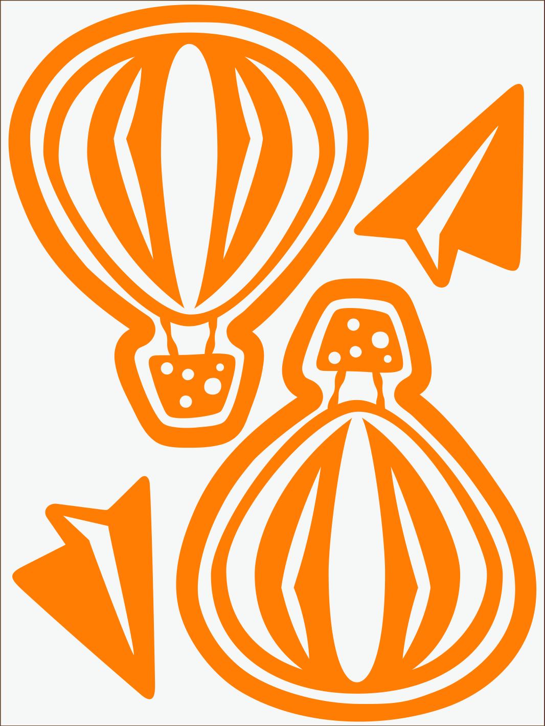 Balónik neon oranžový