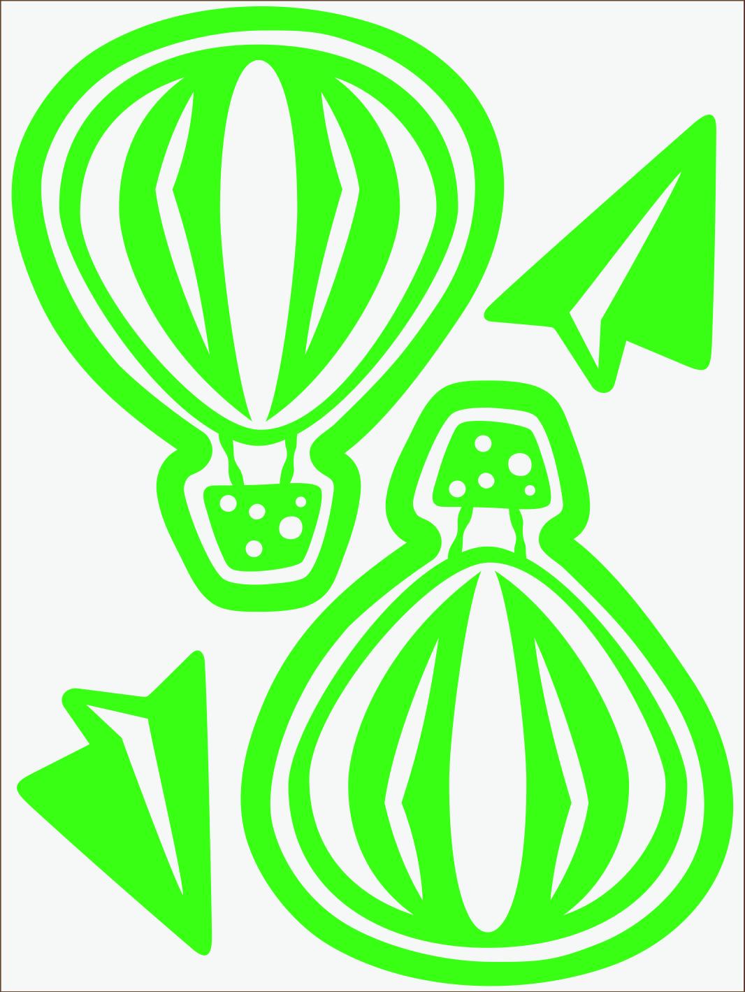 Balónik neon zelený