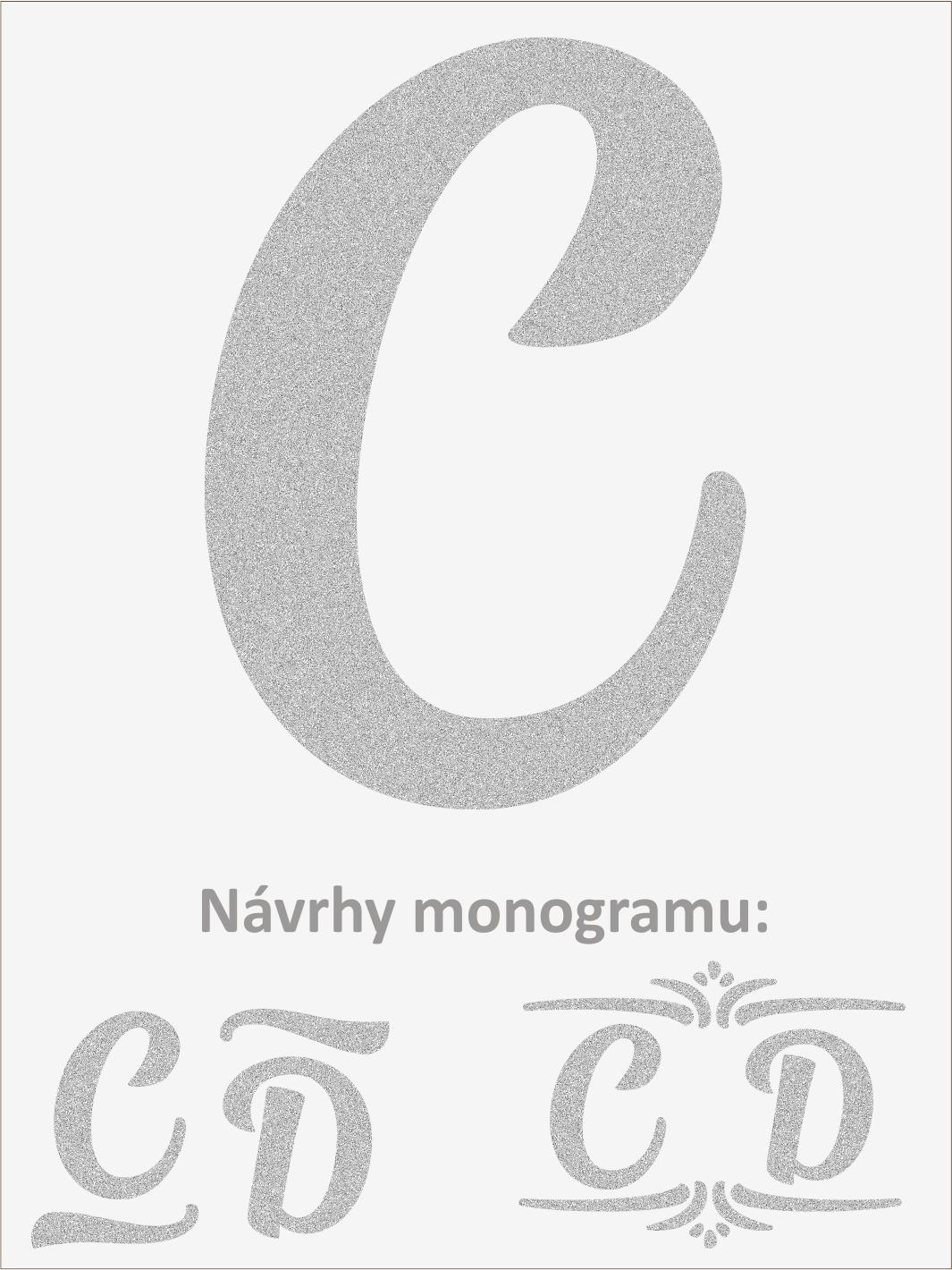 Písmeno C font1