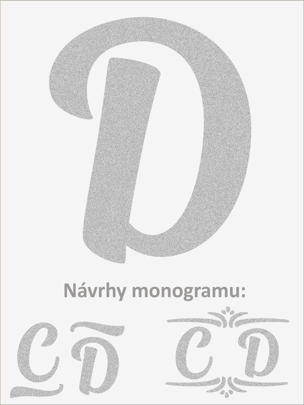 Písmeno D font1
