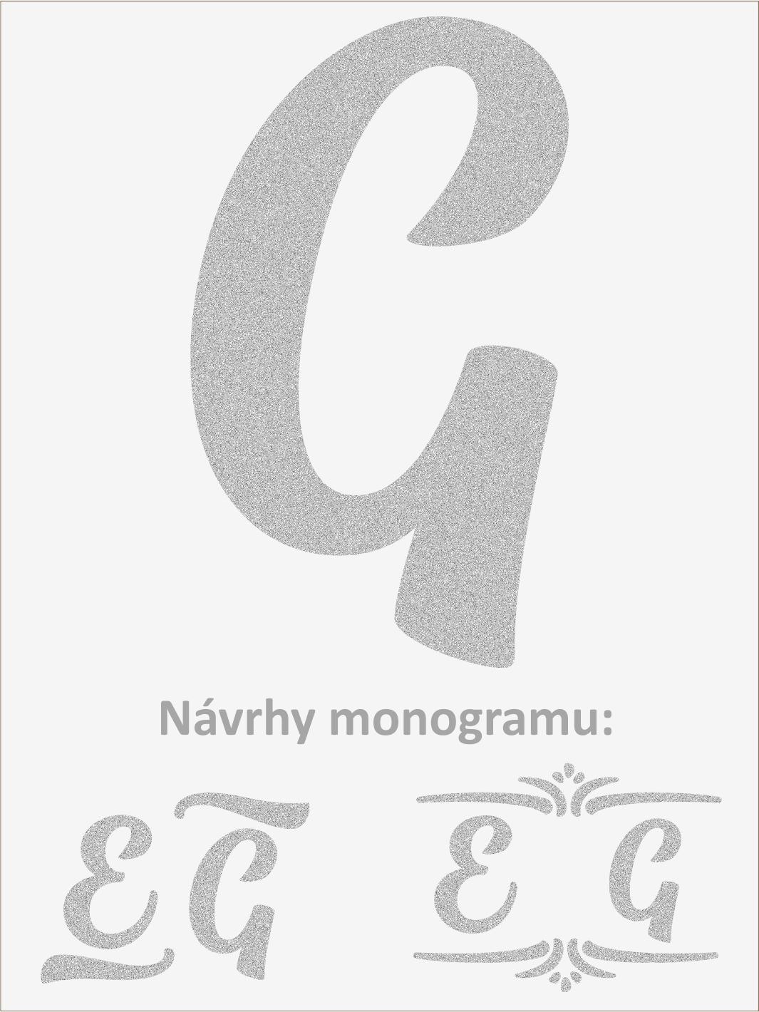 Písmeno G font1