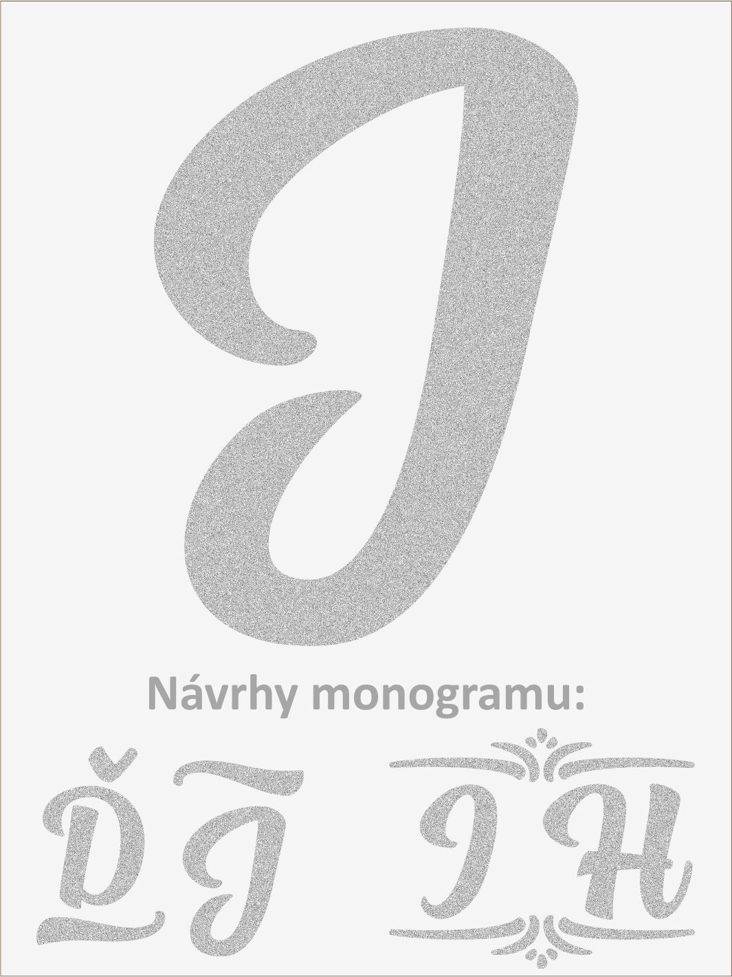 Písmeno J font1