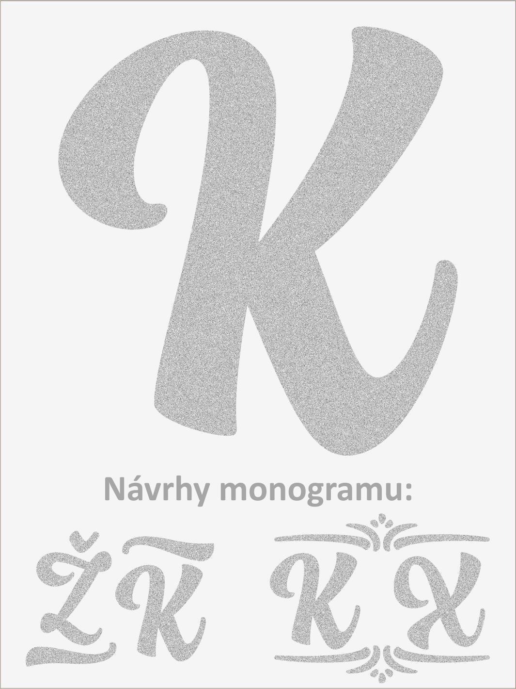 Písmeno K font1