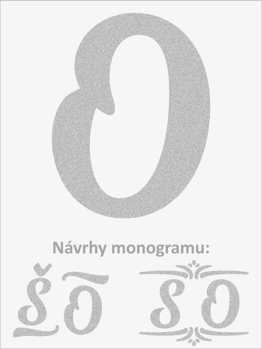 Písmeno O font1