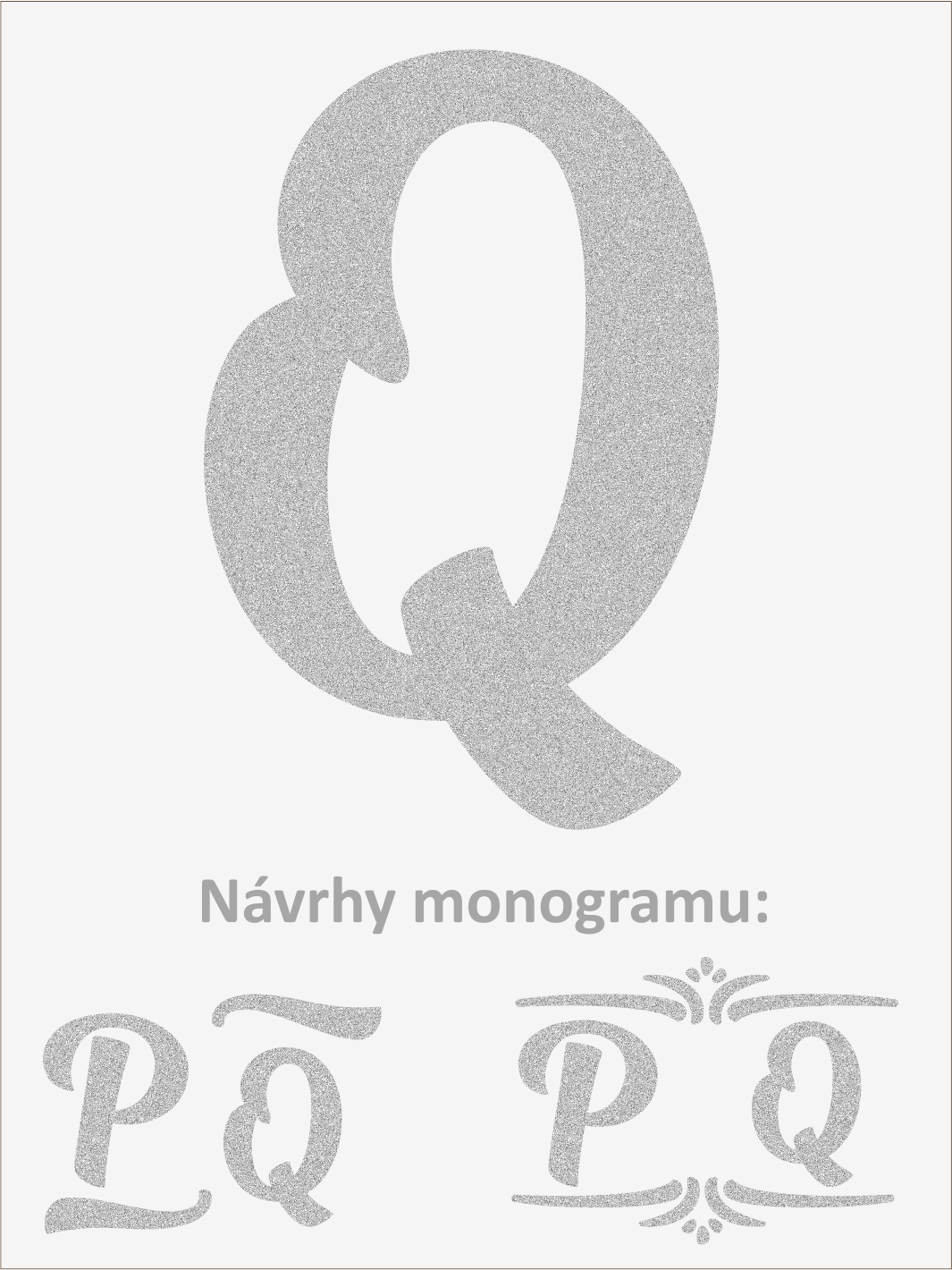 Písmeno Q font1