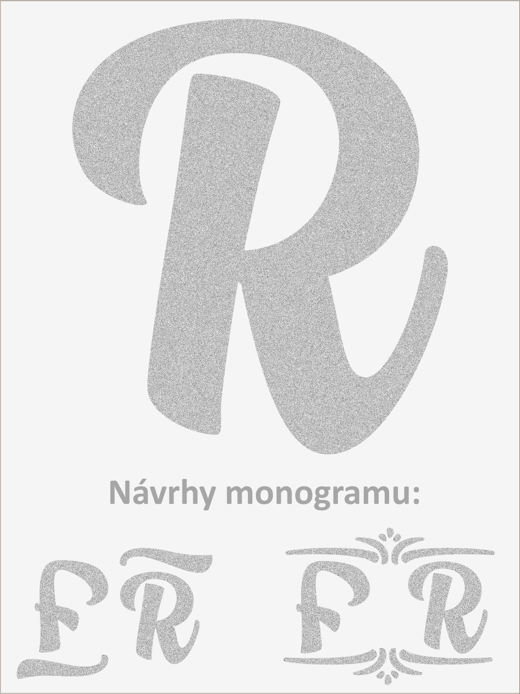 Písmeno R font1