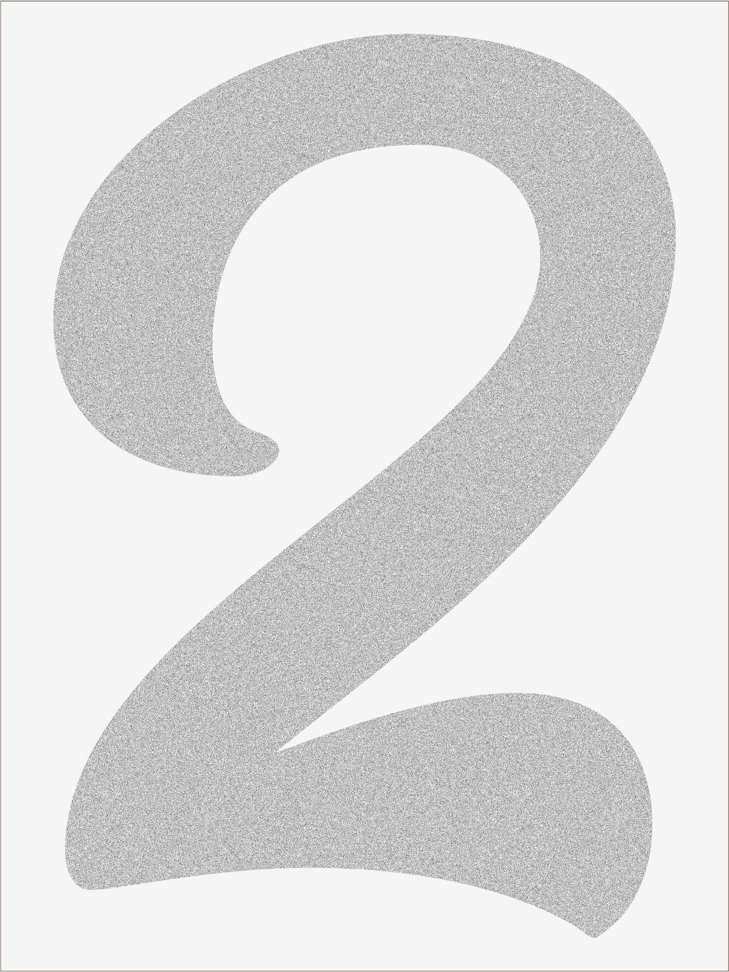 Číslica 2 font1