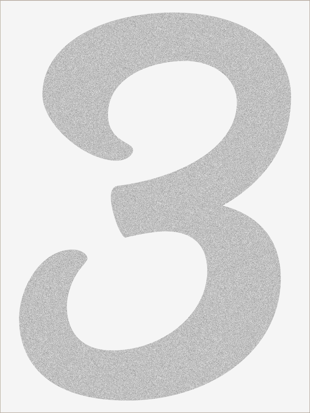 Číslica 3 font1