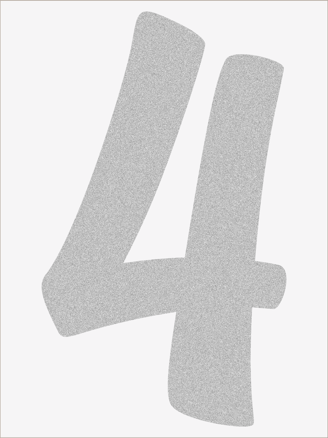 Číslica 4 font1