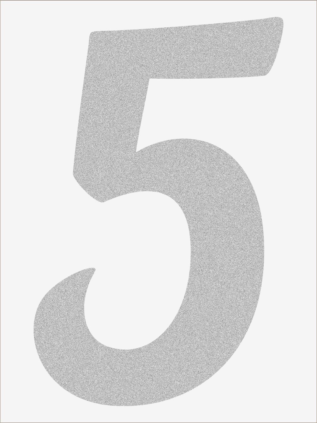Číslica 5 font1