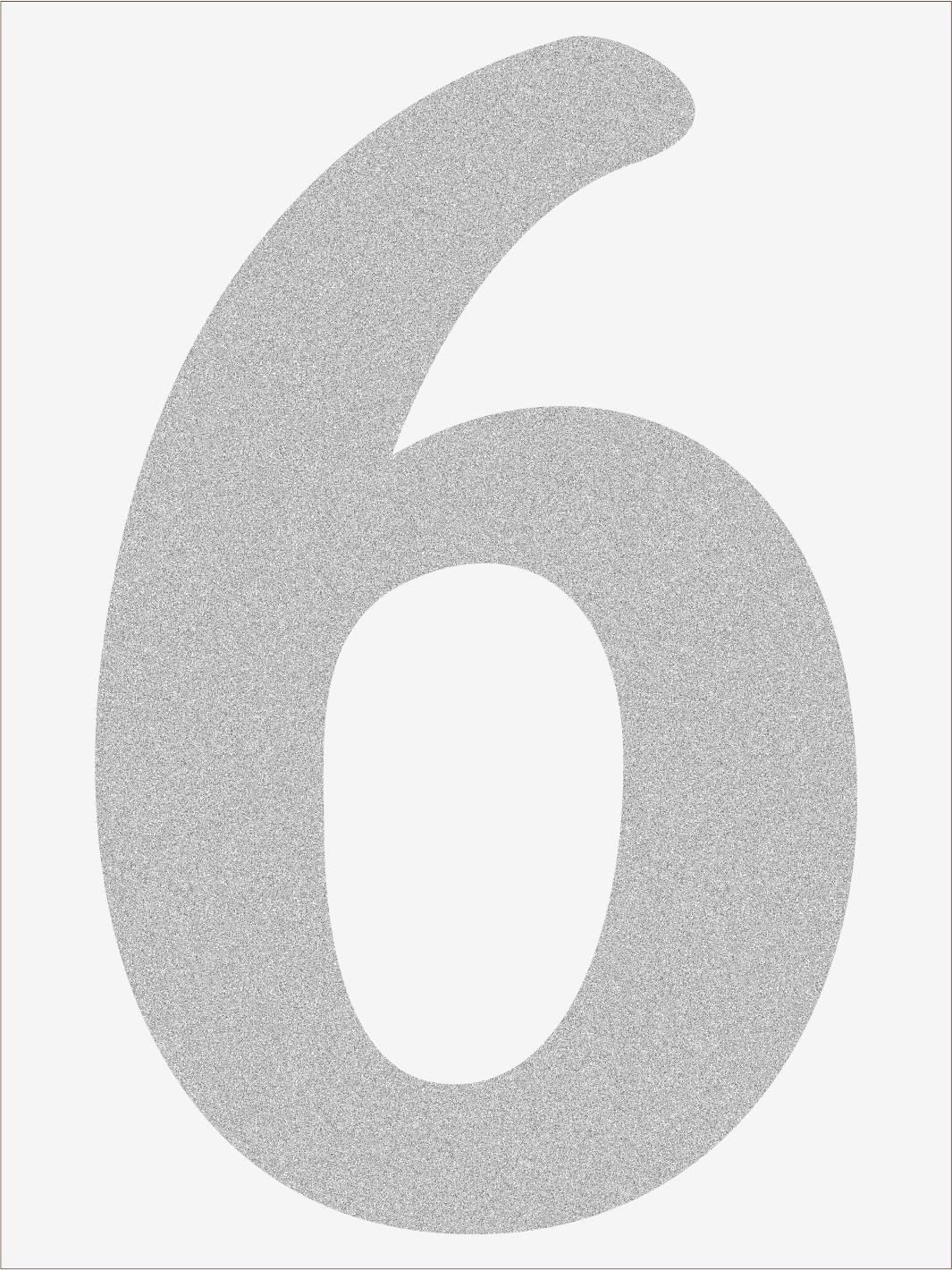 Číslica 6 font1