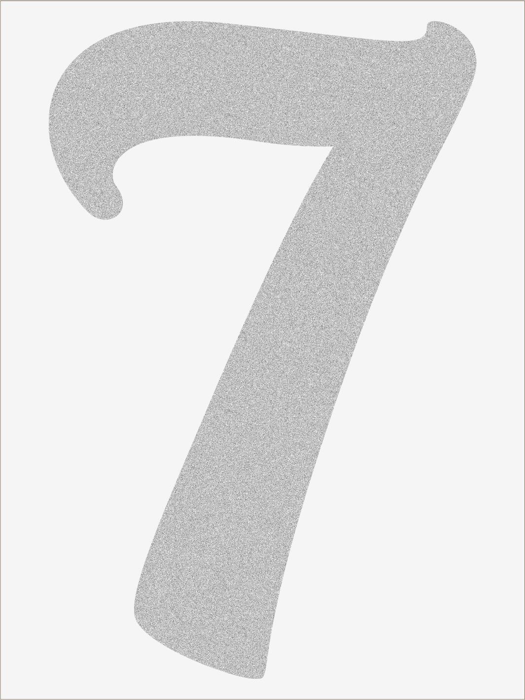 Číslica 7 font1